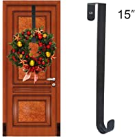GameXcel Wreath Hanger Over The Door   Larger Wreath Metal Hook For  Christmas Wreath Front Door