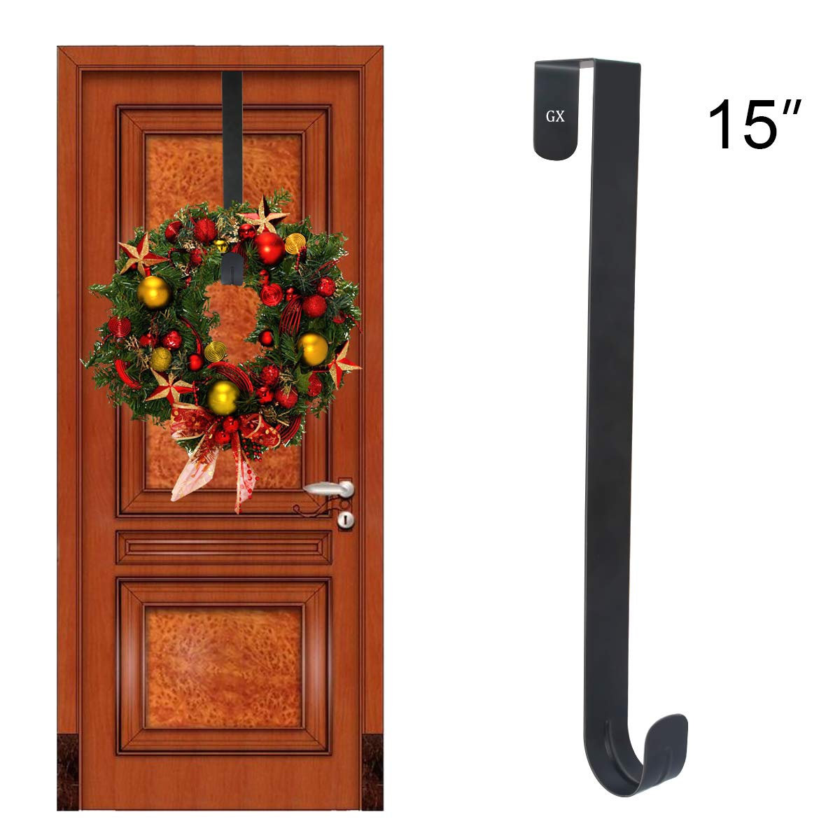 Amazon.com: GameXcel Wreath Hanger Over The Door - Larger Wreath ...