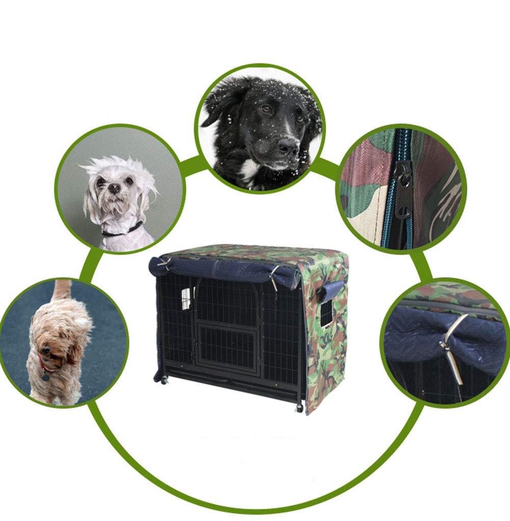 Im Freien Hundekäfigabdeckung Winter Plus Baumwolle warme Dicke Dicke warme Hundekäfigabdeckung Winddichter Regen und Kälte (Farbe   A, größe   114 x 76 x 96cm) 5b21a8