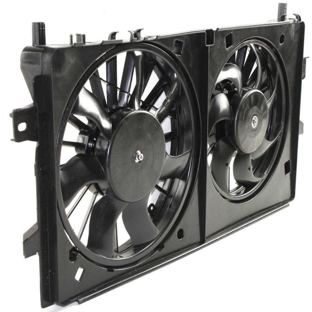 Radiator Fan Shroud Assembly compatible with Pontiac Grand Prix 05-08//Chevy Impala 06-13//Chevy Impala Limited 14-16 Dual