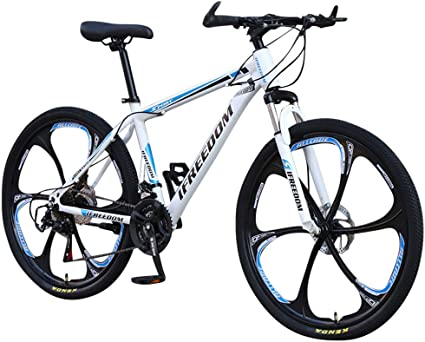 Amazon Com Pan Hui Mountain Bike 26inch 21 Speed Double Disc Brakes Bicycle 6 Knife Wheel Mountain Bike Full Suspension Mtb Bikes Sports Male And Female Adult Commuter Anti Slip Bicycles For Adult