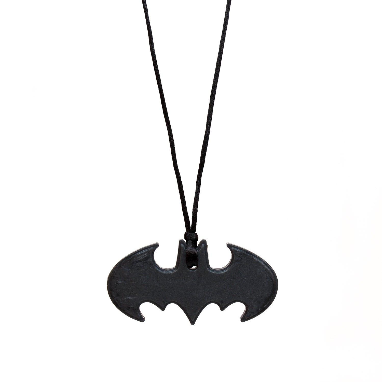 Bumkins DC Comics Silicone Teething Pendant Necklace, Batman Onyx SJW-WBBM