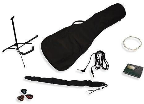 Delson Pacel - Kit de accesorios para guitarra eléctrica, color negro