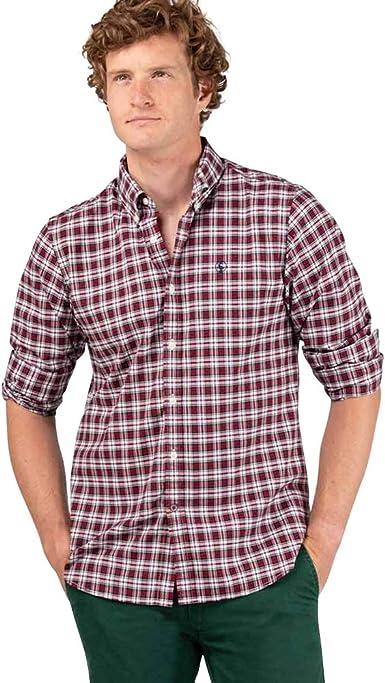 El Ganso - Colección AW19 - Camisa Oxford de Cuadros - para Hombre - Manga Larga - Cuello de Doble Botón: Amazon.es: Ropa y accesorios