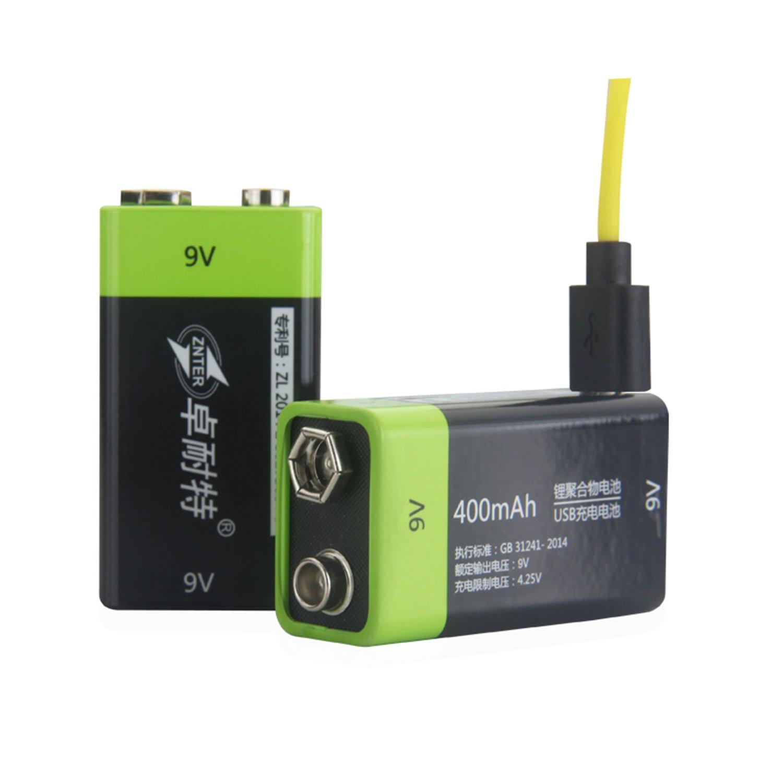 SOEKAVIA 9V Battery Rechargeable Lithium 400mAh USB Amazon Electronics