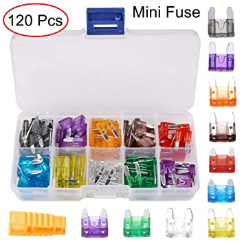 120pcs Assorted Car Fuse Auto Truck SUV Fuses Mini Blade Fuse Kits Set 5-30A UK