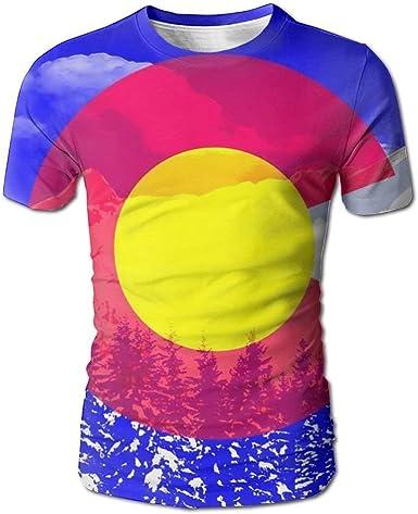 Camiseta con Estampado Completo 3D de Colorado para Hombre, Camisetas de Manga Corta, Casual, XL: Amazon.es: Ropa y accesorios