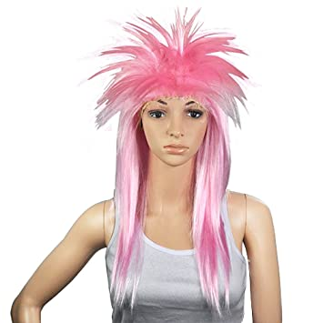 SODIAL(R) 80 LADIES GLAM PUNK ROCK ROCKER CHICK TINA TURNER PELUCA PARA UN