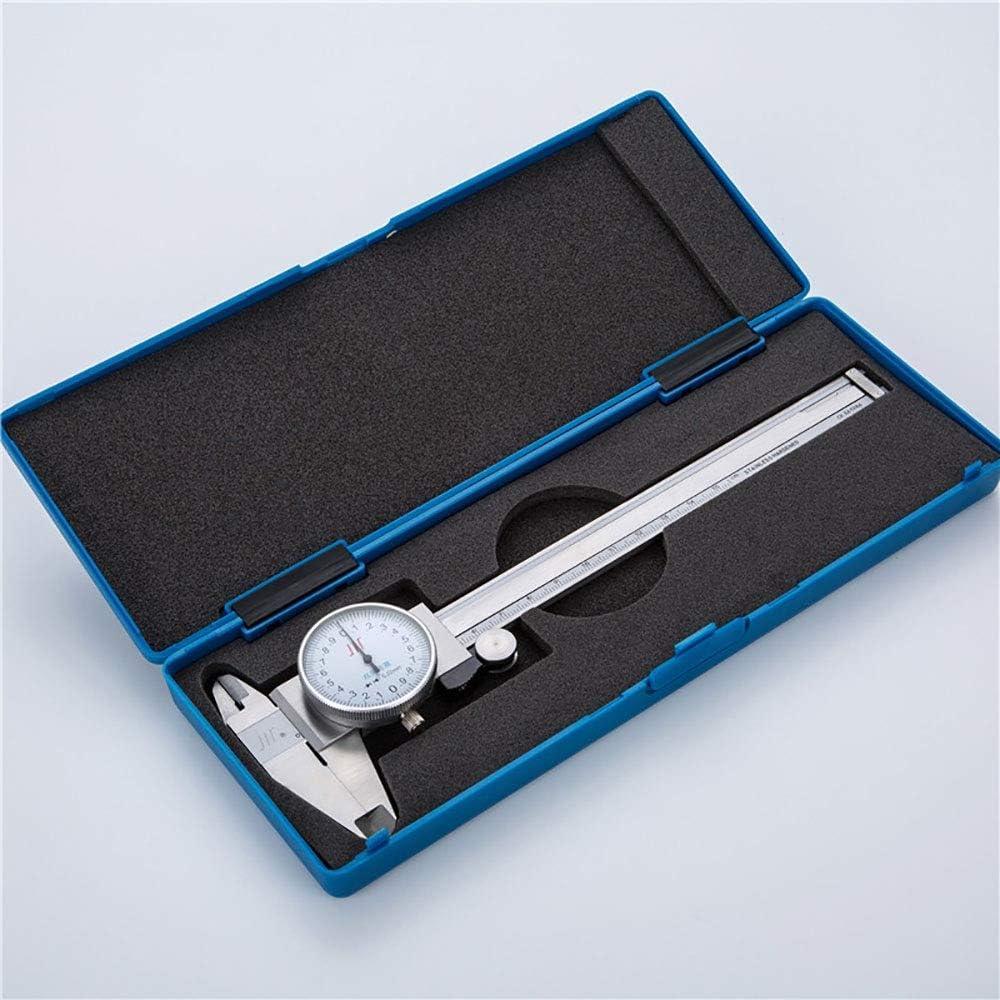 Xhtoe Mikrometer Messschieber Edelstahl-Uhr-Caliper 0-150//200//300 mm Color : Silver, Size : 150mm 0,02 mm verchromt Messschieber for die Schule Messen Schieb