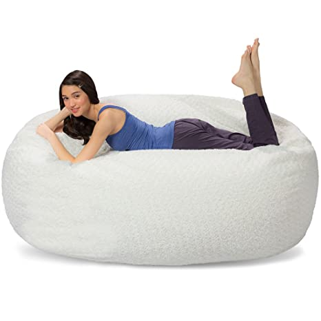 Prime Comfy Sacks 6 Ft Lounger Memory Foam Bean Bag Chair Polar Fox Pabps2019 Chair Design Images Pabps2019Com