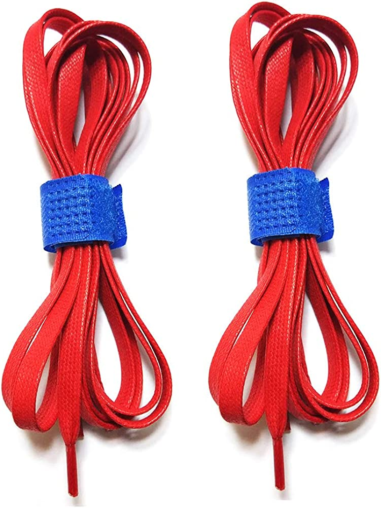 Wide Flat Shoelace Red Star Black Buy Two Get One Free