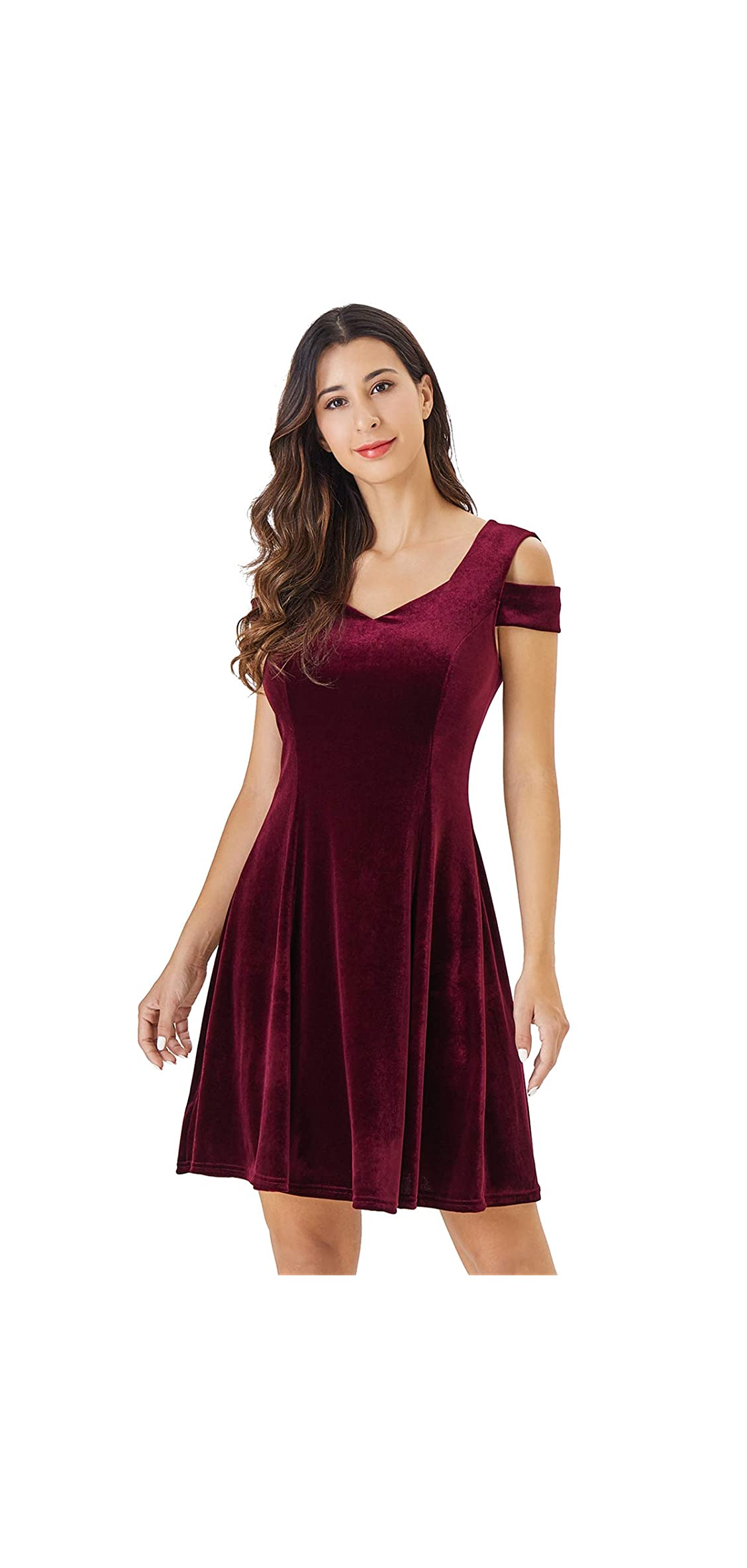 Women's Cold Shoulder Little Cocktail Party A-line Dress