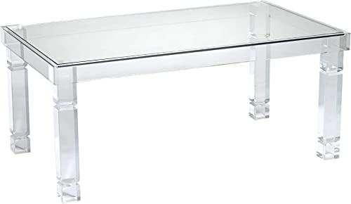 Marley 42 Wide Clear Acrylic Rectangular Coffee Table – 55 Downing Street