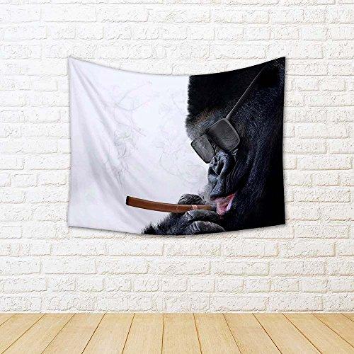 - ArtzFolio Badass Gorilla Satin Tapestry Wall Hanging 21.9 X 18Inch