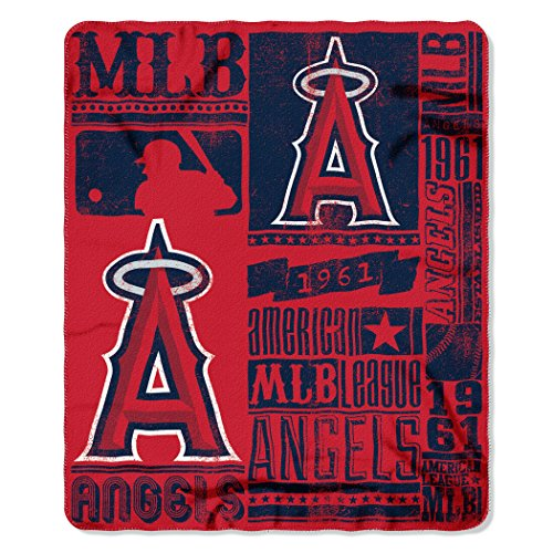 The Northwest Company MLB Los Angeles Angels Strength Printed Fleece Throw, 50 x 60-inches
