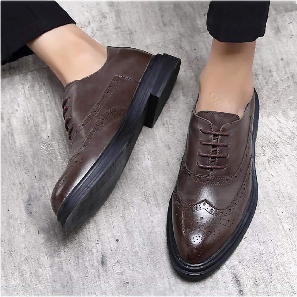 Yaxuan Herrenschuhe, Frühlings Mode-Spitzen-Zehenschuhe, Schuhe, Herren-Formale Business-Schuhe, Mode-Spitzen-Zehenschuhe, Frühlings Hochzeits-Casual-Party,Braun,40 - 78ab62