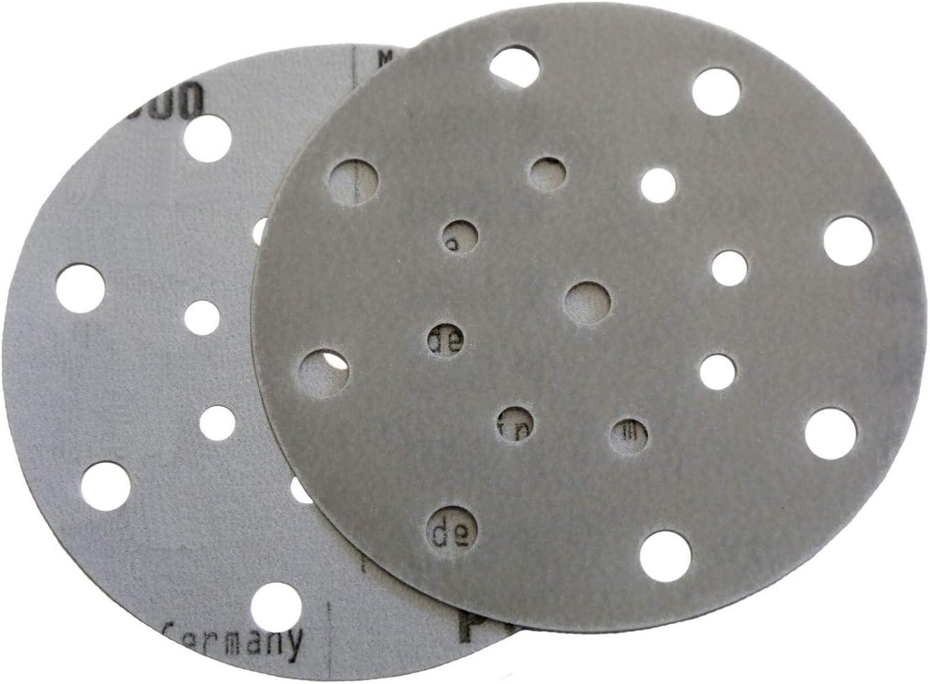 """6"""" x 17 Hole Film Hook and Loop Grip Sanding Discs (50 Pack, 1200 Grit)"""