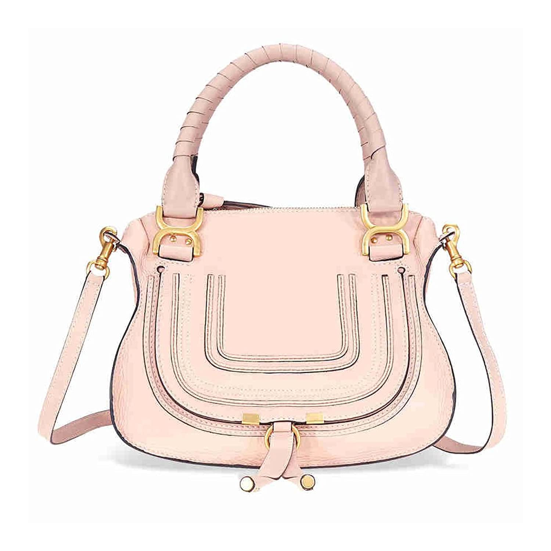 Chloe Large Leather Handbag - Blush Nude