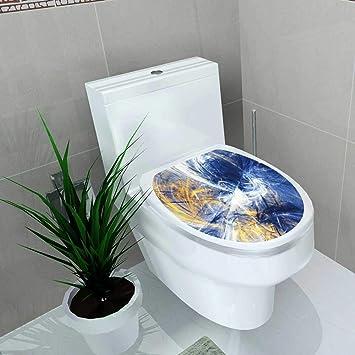 Vanfan Badezimmer Wc Blau Gelb Farbe Hintergrund Dynamic Paint
