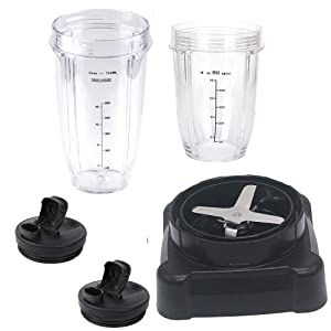new style extractor blade with 18oz 24oz cup and spout lid for Ninja NJ600 Professional Blender and Ninja Professional 72oz Countertop Blender BL610