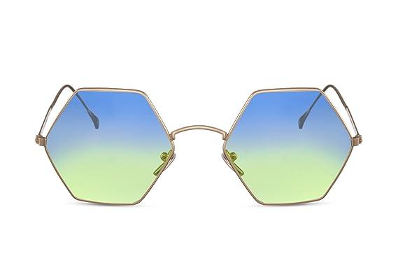Cheapass Gafas de Sol Mujer Redondas Ojo de Gato UV400 Montura Metálica
