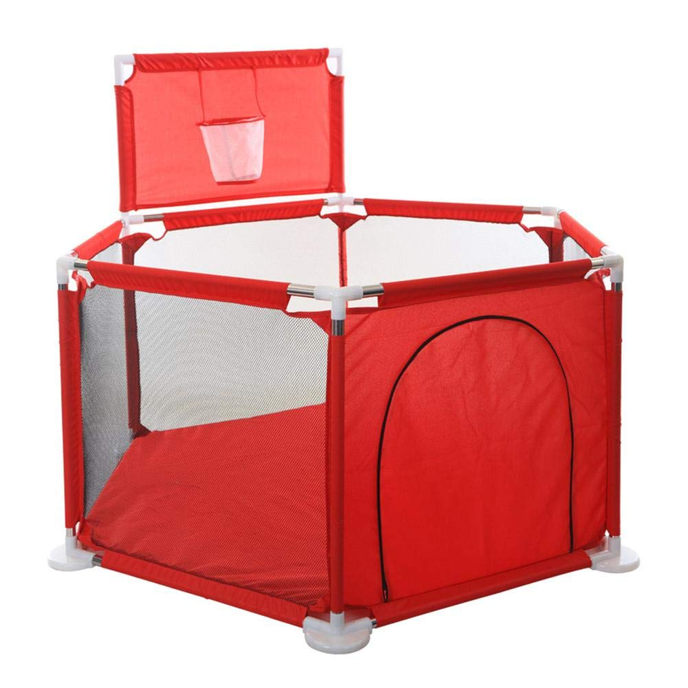 Kids Playpen Fence Ball Pool Portable Lightweight Mesh Baby Safety Stable Game Fence With A Basket Forestwood
