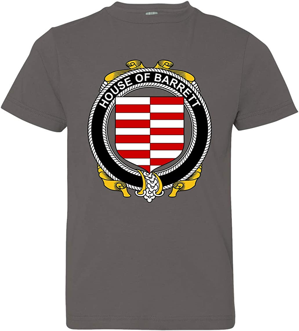 X-Small Tenacitee Boys Youth Irish House Heraldry Barrett T-Shirt Charcoal