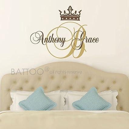 Amazon.com: BATTOO Princess Wall Decal Crown Wall Decal Baby Girl ...