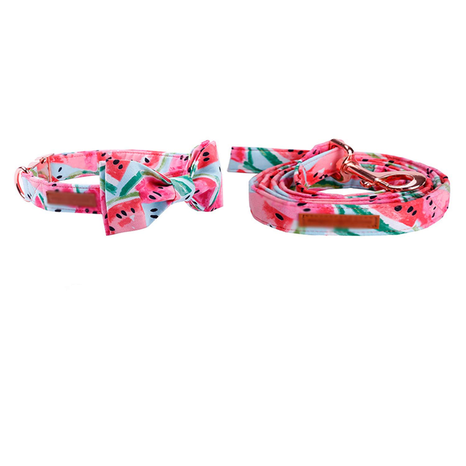 Collar bow and leash L collar bow and leash L Dog and Leash Set with