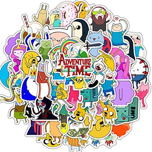 50pcs Adventure Time with Finn and Jake Stickers Variety Vinyl Car Sticker Motorcycle Bicycle Luggage Decal Graffiti Patches Skateboard Stickers for Laptop Stickers for Kid and Adult (Finn and Jake)