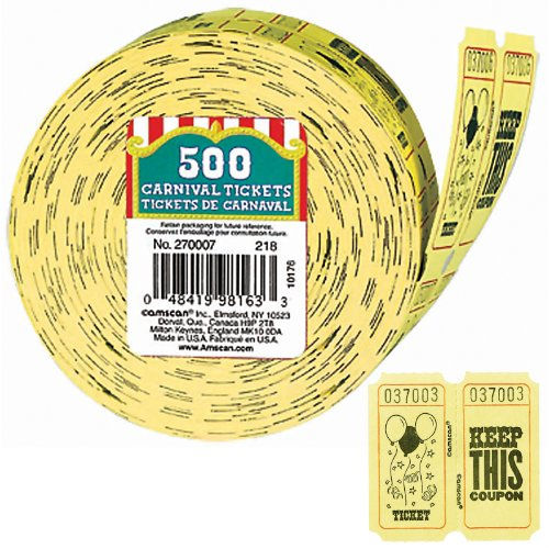 Amscan - 500 Carnival Ticket Roll -