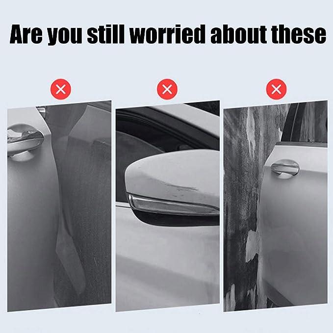 Türkantenschutz Türkantenschoner 4pcs Autotürschutz Stoßstange Autotürkantenschutz Protektoren Mit 3 M Selbst Klebende Weiß Auto