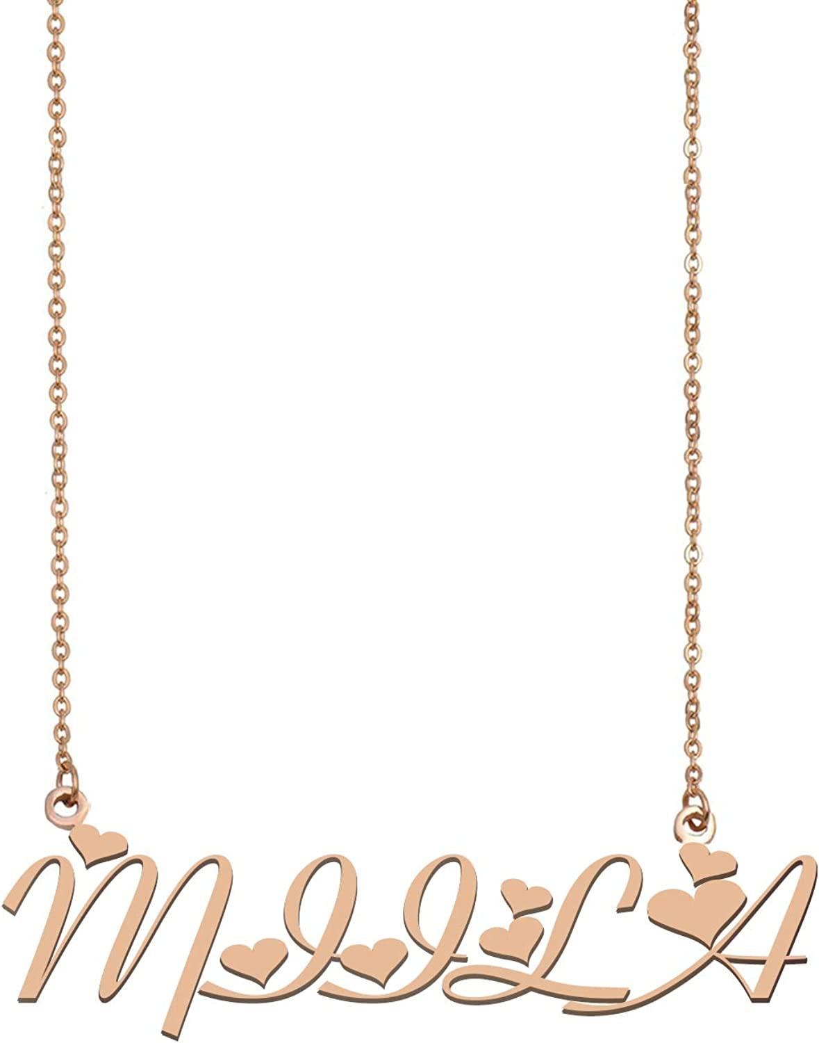 Necklace with Name Name Plate Necklace Personalized Name Necklace Spud Name Necklace Gold Custom Name Necklace