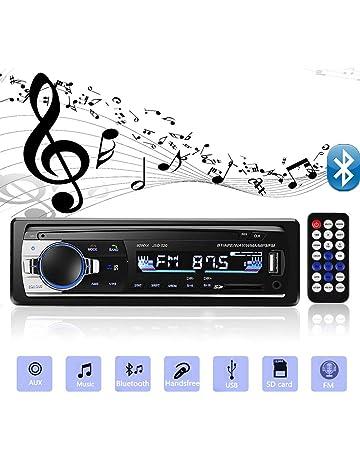 Andven Autoradio Bluetooth, 4×60W Manos Libres Radio Estéreo de Coche, Apoyo de