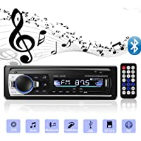 Andven Autoradio mit Bluetooth Freisprecheinrichtung, Digital Media-Receiver, 4X60W Auto Radio 1 Din, USB/ SD/ AUX/ MP3-Player Receiver mit Fernbedienung