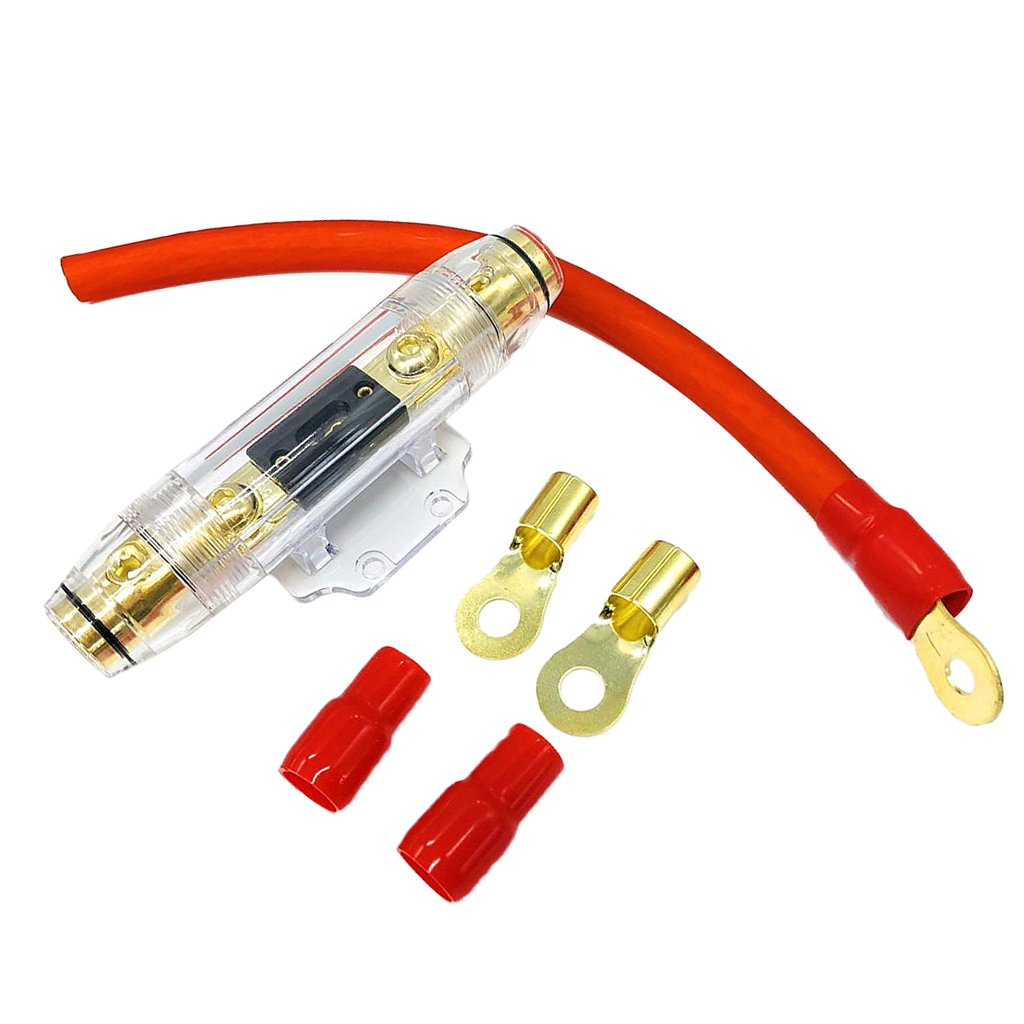 MagiDeal 150A ANL Sicherungshalter mit 0GA Stromkabel Ringklemmen ...