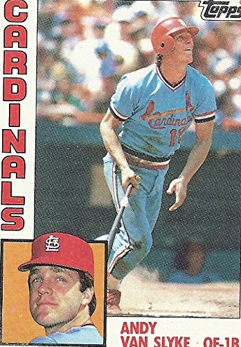 1984 TOPPS CHEWING GUM ANDY VAN SLYKE ROOKIE BASEBALL TRADING CARD #206 (ST. LOUIS CARDINALS) - FREE - Cards Gum Chewing Topps