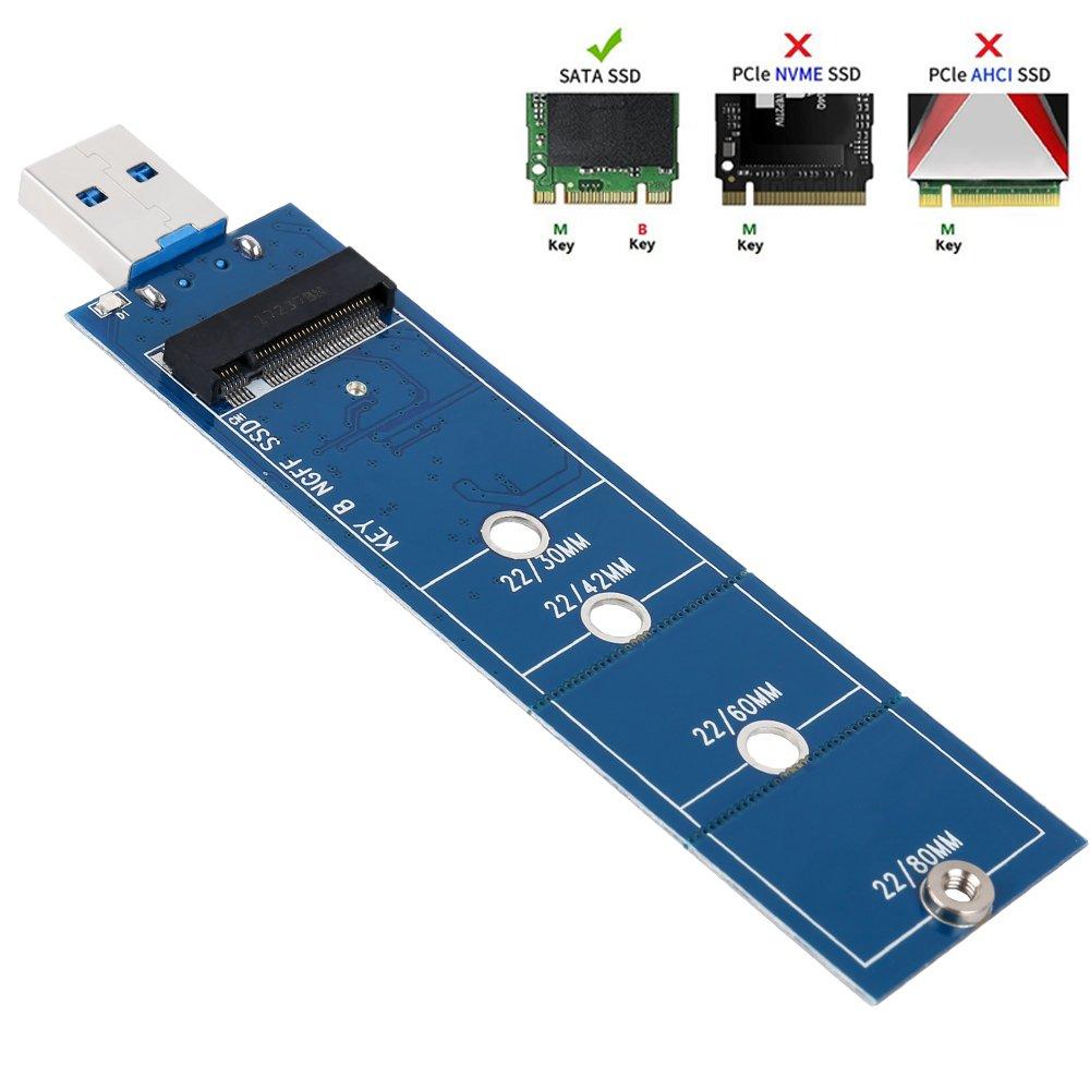 Adaptador QNINE M.2 a USB, Adaptador SSD M.2 B Key USB 3....