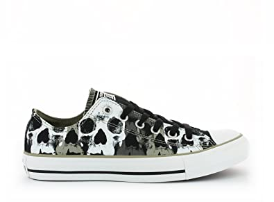 Noir Basse Print Chuck Basket Taylor All Ox Skull Star Converse EH2YWIeD9