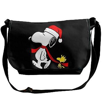 Feliz christmas-funny Snoopy moda hombro mochila gimnasio bolsa Cruz cuerpo: Amazon.es: Electrónica