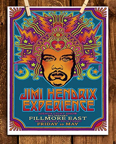 "Jimi Hendrix- Music Poster Print""JH Experience-Filmore East""- 8 x 10"" Wall Print- Ready To Frame-Vintage Musician Poster. Home-Studio-Bar-Dorm-Man Cave Decor. Perfect For All Hendrix & Rock Fans."