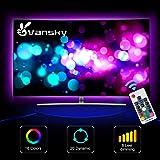 Led Strip lights,Vansky Bias Lighting for 40-60 inch HDTV 6.6ft RGB USB Powered LED Light Strip with RF Remote,TV…