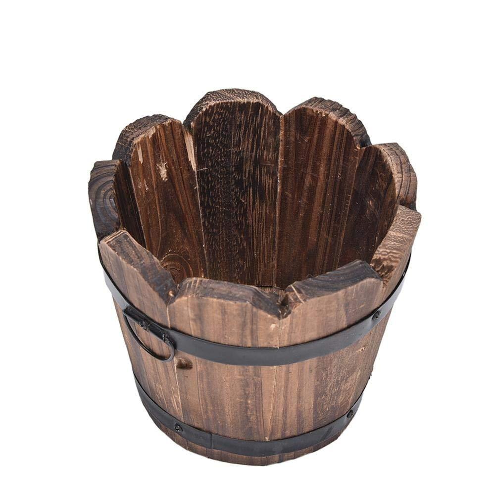 Amazon.com: Maceta de madera estilo rústico vintage para ...