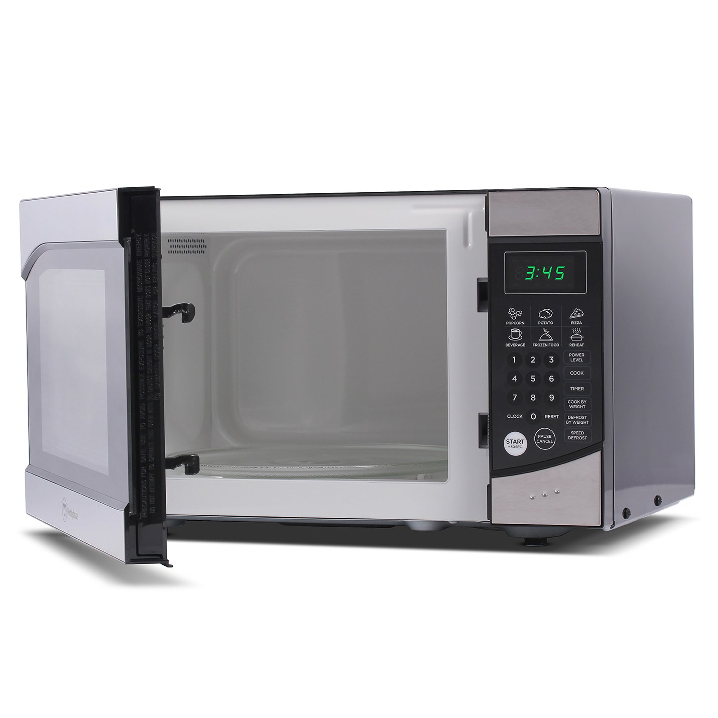 Westinghouse, WM009, Countertop Microwave Oven, 900 Watt, 0.9 Cubic Feet, Stainless Steel Front, Black Cabinet, Small by Westinghouse (Image #1)