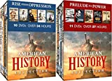 American History Collection 21-DVD Bundle: Rise from Oppression & Prelude to Power (Lincoln/Black History/Railroads/Gangsters/Guns/Oil/Slaves/Civil War/Native Americans)
