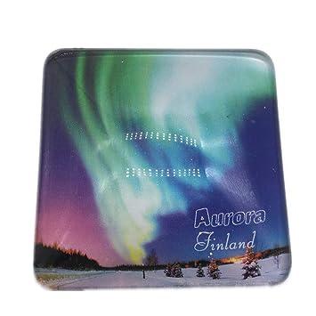 Weekinglo Souvenir Aurora Finlandia Imán de Nevera Ciudad ...