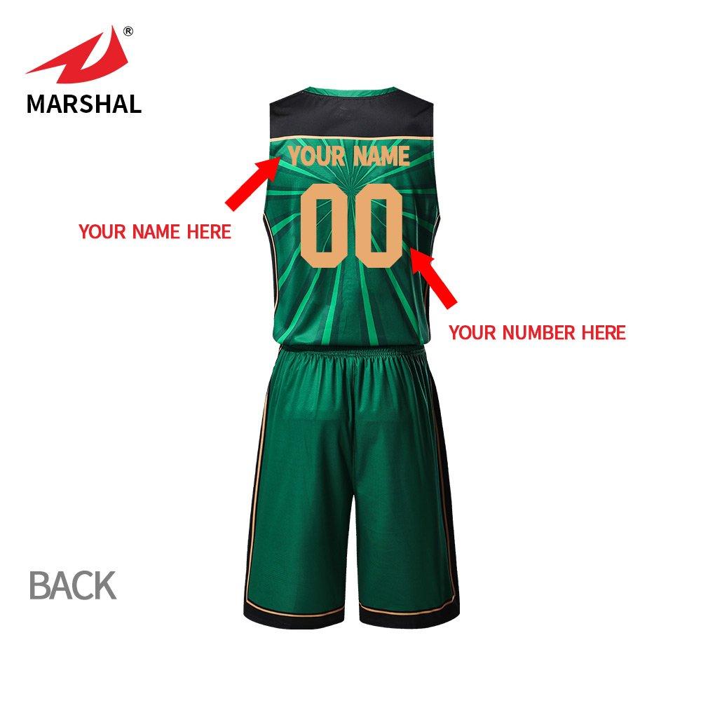 ZHOUKA custom mens sublimation printing logo and number team green uniforms  basketball jersey ba7ab88e3