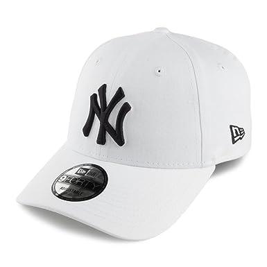 New Era 9FORTY New York Yankees Baseball Cap - League Basic - White  Adjustable 9149b4eee58