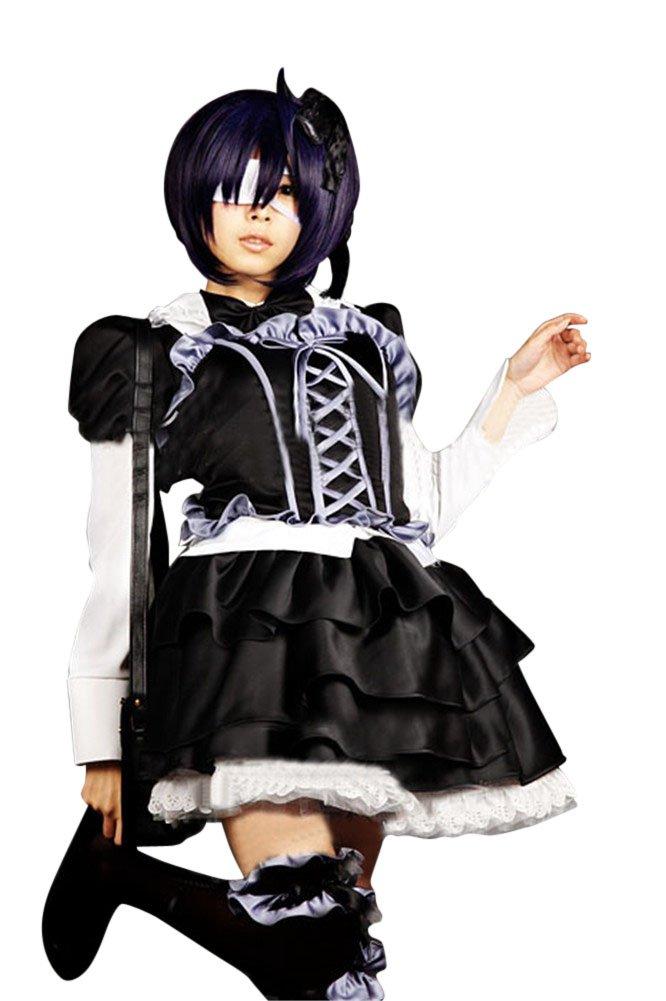 Mtxc Women's Love, Chunibyo & Other Delusions Cosplay Rikka Takanashi Lolita Dress Size Small Black