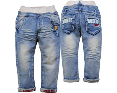 Amazon.com: 3870 primavera bebé niños jeans Denim azul claro ...